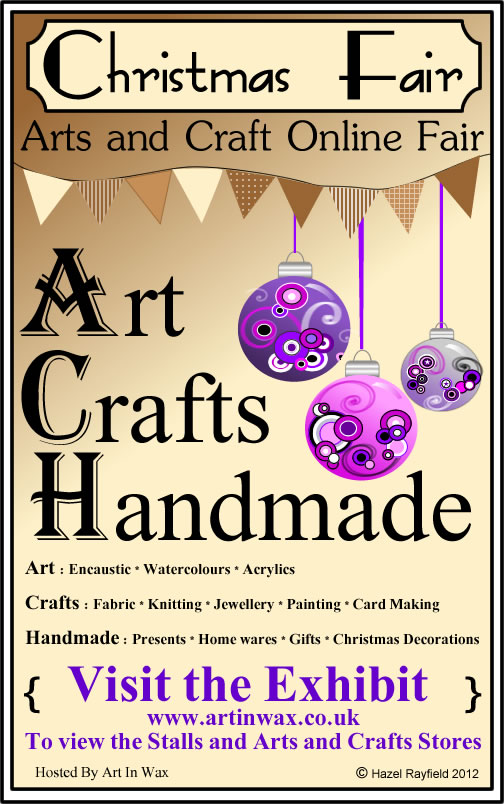 Arts and Crafts Christmas Fair Poster