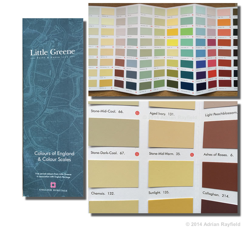 Little Greene company paint chart